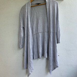 Heather grey light knit long cardigan sweater top